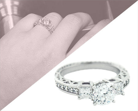 Sentimental Engagement Ring | Three Stone Engagement Rings