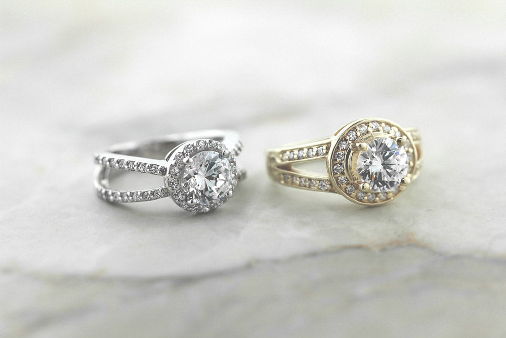 The Coco Engagement Ring and Tyra Engagement Ring
