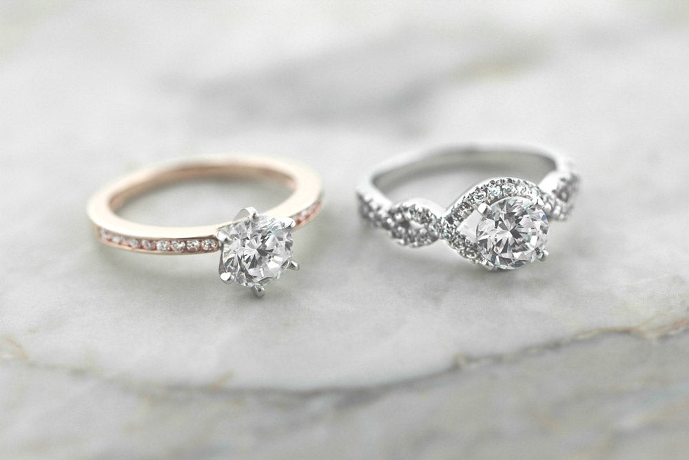 The Drew Engagement Ring and Infinity Engagement Ring