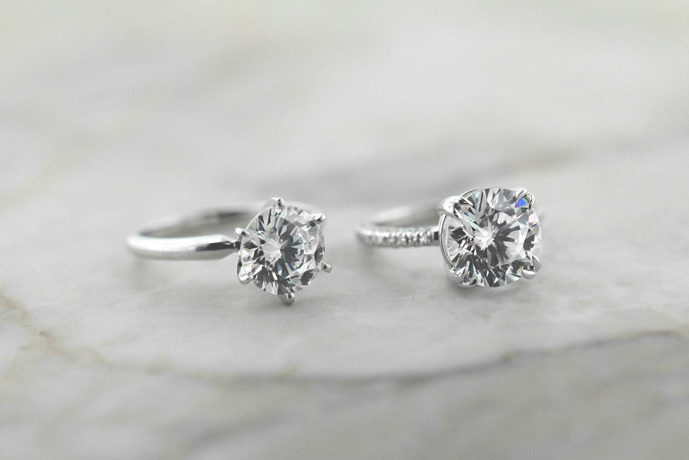 The Traditional Solitaire Engagement Ring and Socialite Engagement Ring