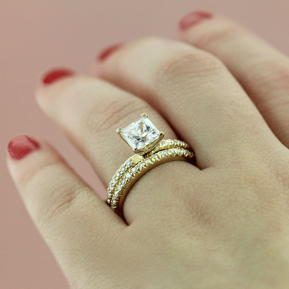 Tyra Accented Wedding Set