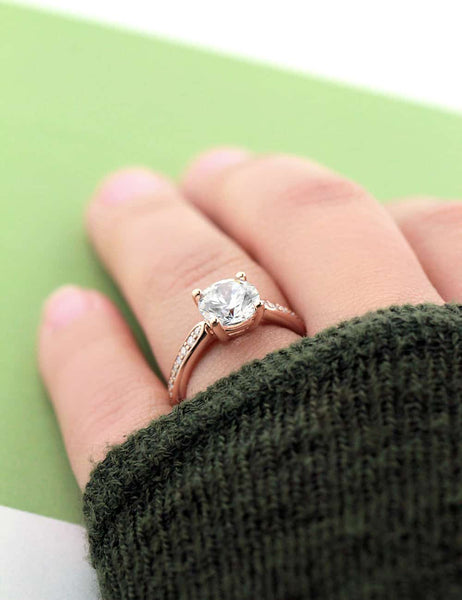 Unity Engagement Ring in Rose Gold
