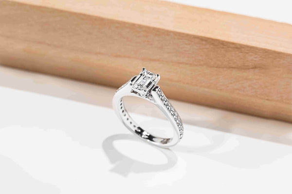 Waterfall Engagement Ring