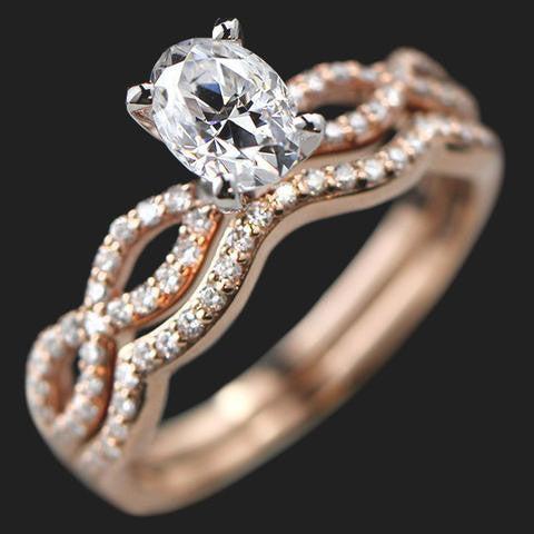 Infinity Engagement Ring and Wedding Band