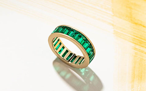 affordable emerald wedding band