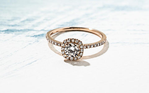 affordable Halo Engagement ring