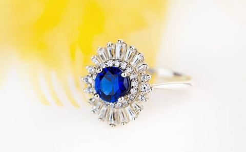 affordable sapphire engagement ring