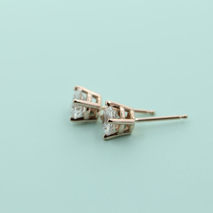 Rose Gold Basket Earrings