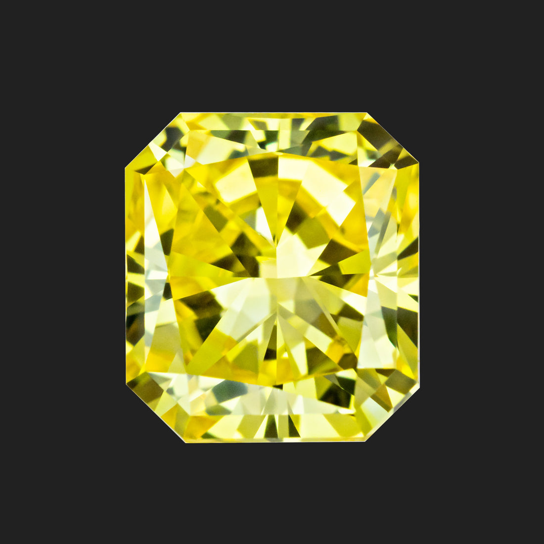 1.91 Carat Radiant Cut Fancy Intense Yellow Lab Created Diamond
