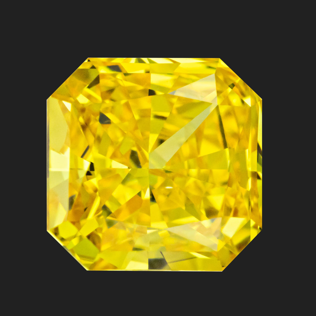 2.01 Carat Radiant Cut Fancy Vivid Orangy Yellow Lab Created Diamond