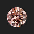 0.96 Carat Round Cut Fancy Intense Pink Lab Created Diamond