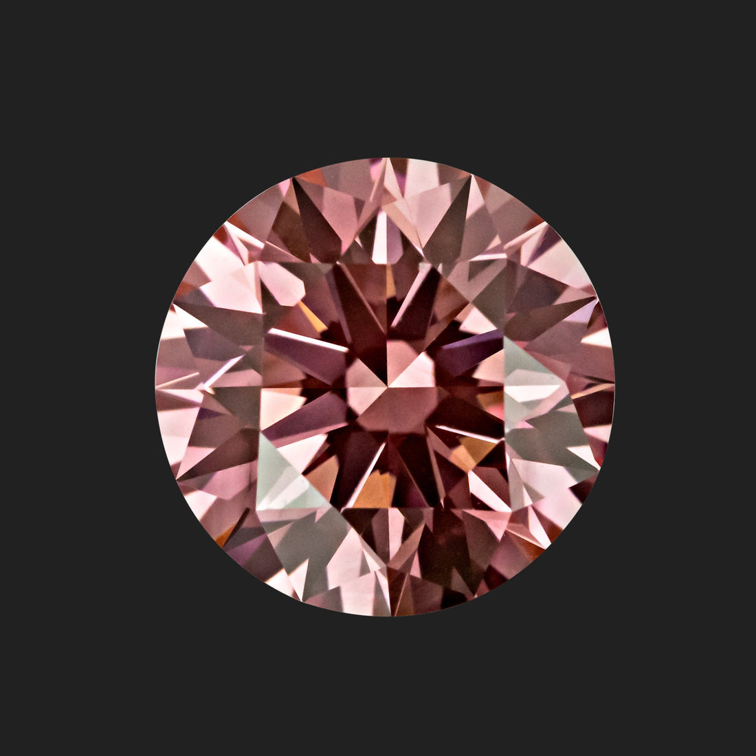 1.00 Carat Round Cut Fancy Intense Pink Lab Created Diamond