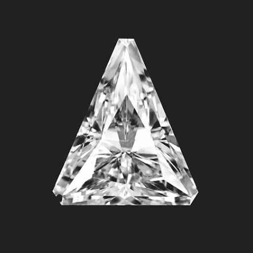 0.55 Carat Triangle Cut Lab Created Diamond