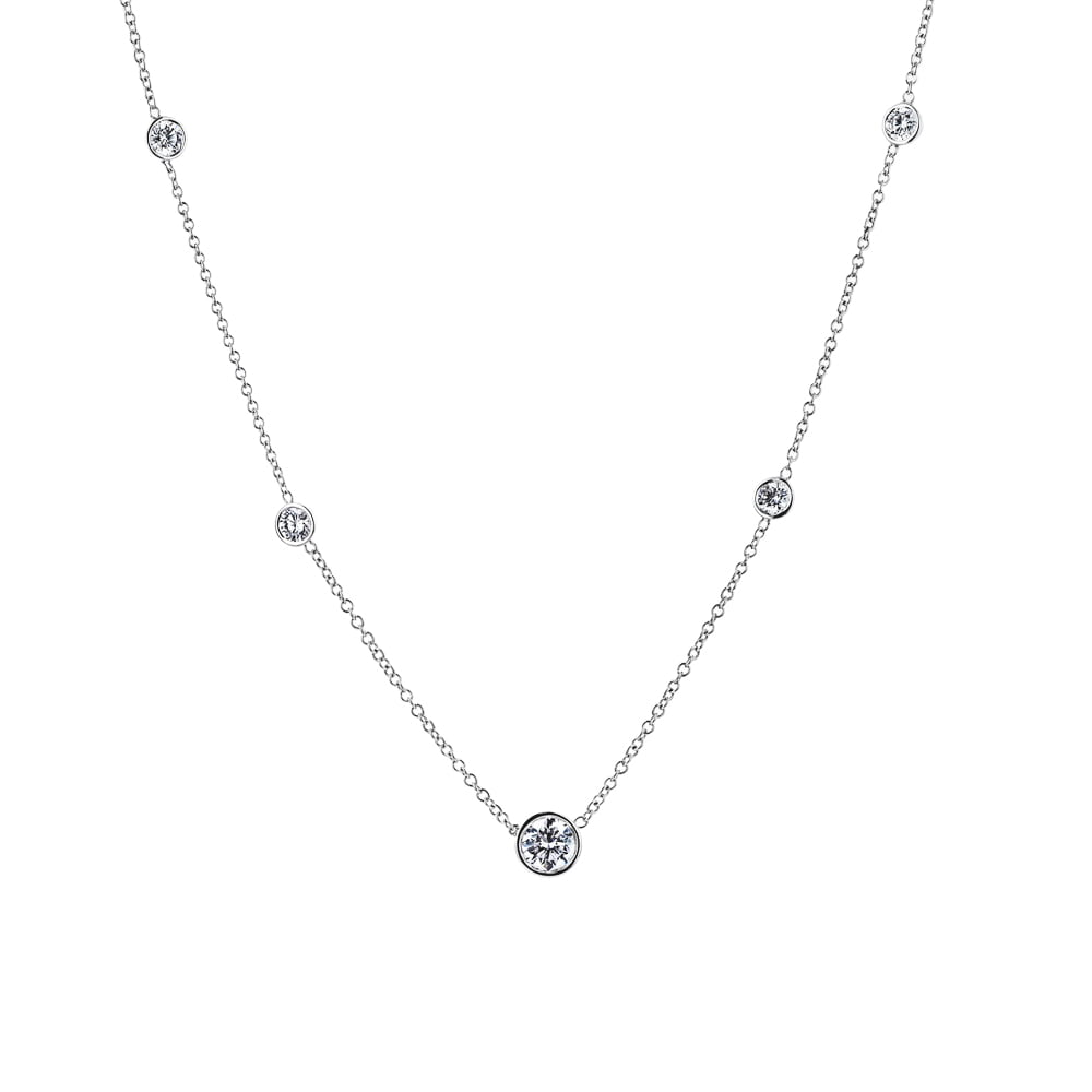 Accented Bezel Necklace