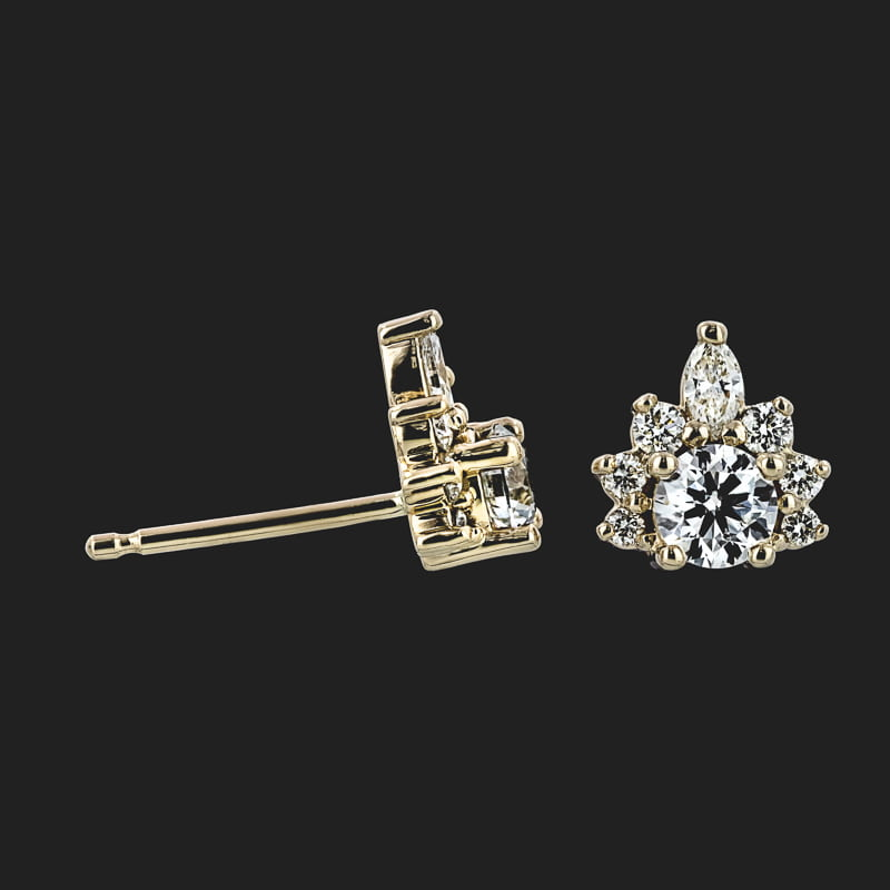 Accented Round & Marquise Earring
