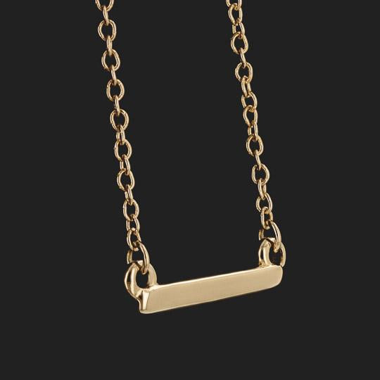Bar Necklace (RTS) - 14K Yellow Gold