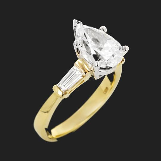 Chorus Three Stone Engagement Ring