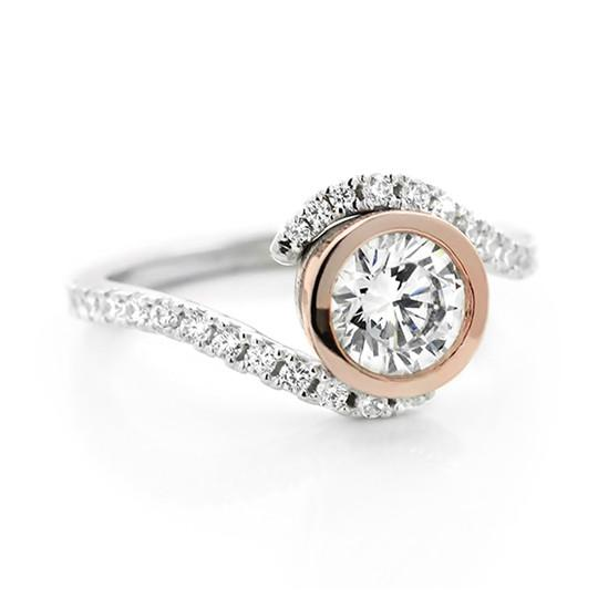 Davis Two Tone Engagement Ring