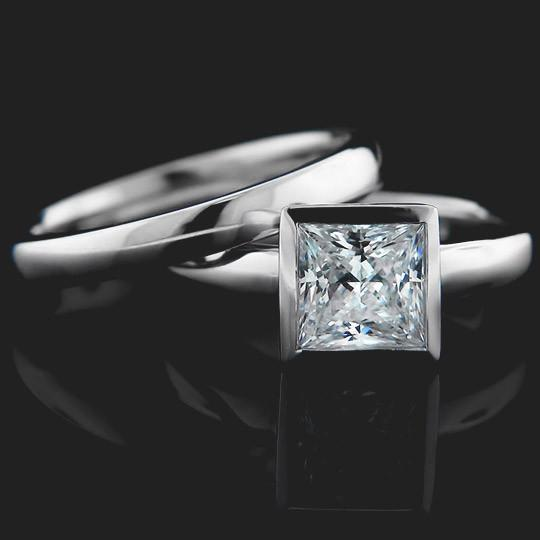 Bizet Solitaire Wedding Set