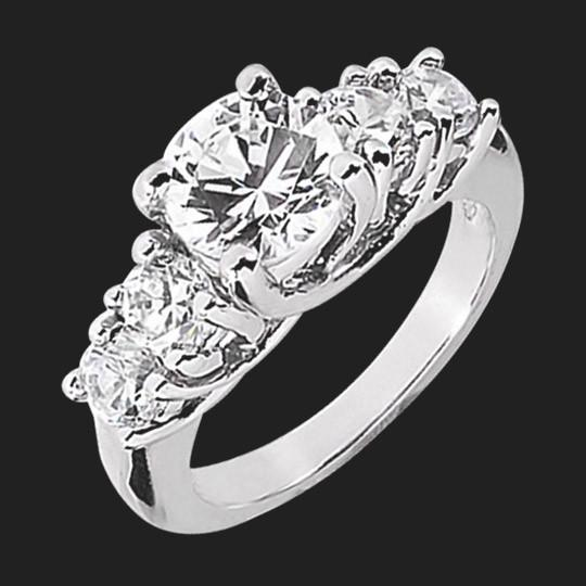 Dawn Accented Wedding Ring
