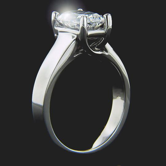 Midnight Solitaire Engagement Ring