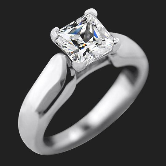Viola Solitaire Engagement Ring