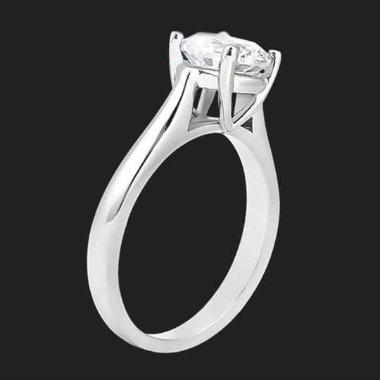Onyx Solitaire Engagement Ring
