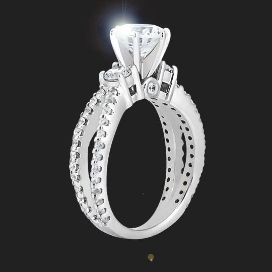 Harpo Three Stone Engagement Ring