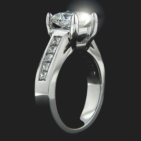 Shown with a 1.50ct Princess cut in 14KW|1.50ct Princess cut in 14KW