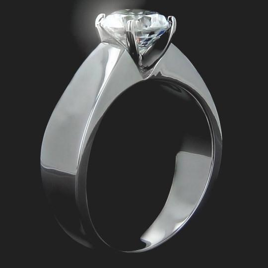 Shown with a 1.25ct Round cut in 14KW|1.25ct Round cut in 14KW