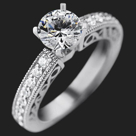 SALE Ali Engagement Ring - Round Cut 2.5ct Diamond Hybrid®