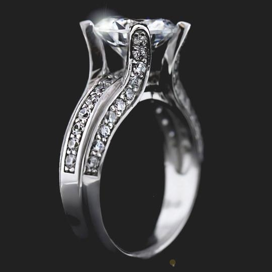 Susan Accented Engagement Ring