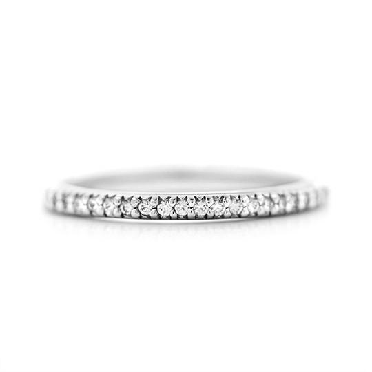 Hope Accented Wedding Band White