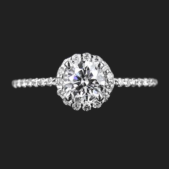 SALE Jazzy Engagement Ring - 0.52ct Round Cut Lab Created Diamond