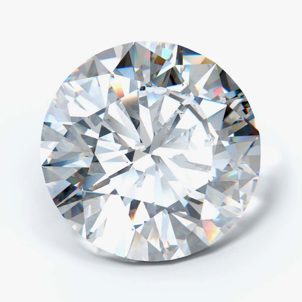 4.00 Carat Round Cut Lab Created Diamond