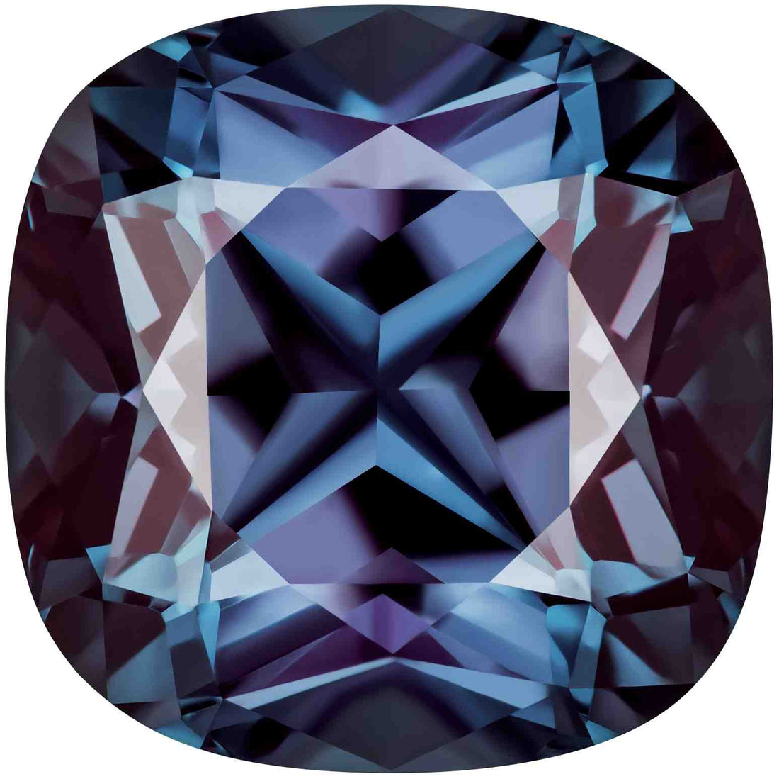 1.20 Carat Cushion Cut Alexandrite Lab Created Gemstone