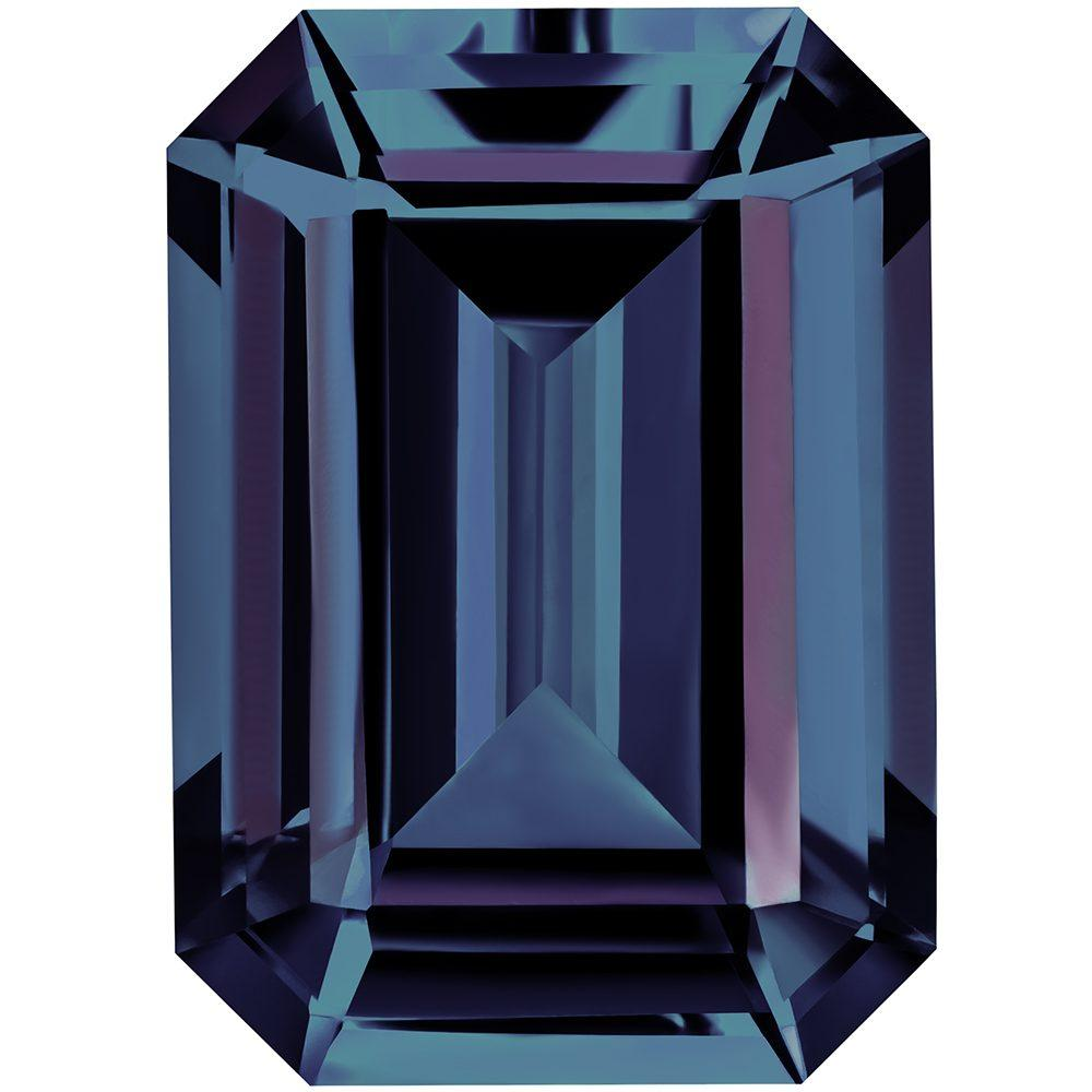 0.65 Carat Emerald Cut Alexandrite Lab Created Gemstone