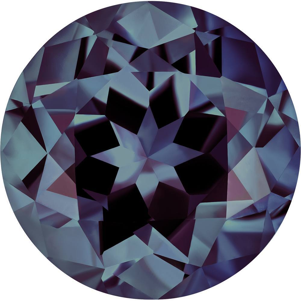 0.60 Carat Round Cut Alexandrite Lab Created Gemstone