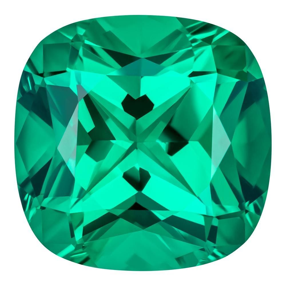 0.90 Carat Cushion Cut Emerald Lab Created Gemstone