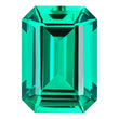0.70 Carat Emerald Cut Emerald Lab Created Gemstone