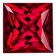 0.90 Carat Princess Cut Ruby Lab Created Gemstone