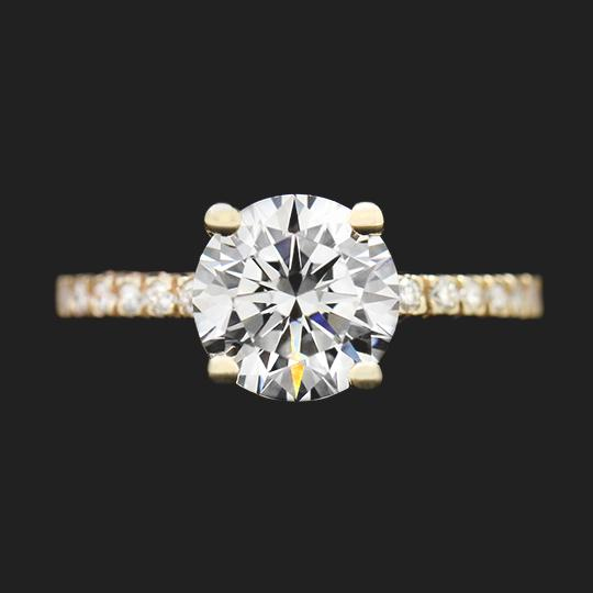 SALE Marilyn Engagement Ring - 2.0ct Round Cut Diamond Hybrid®