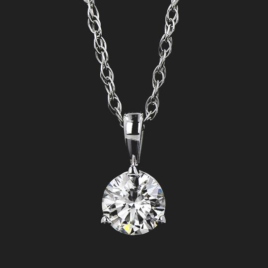Martini Pendant (RTS) - 0.41ct Round Cut Lab-Grown Diamond