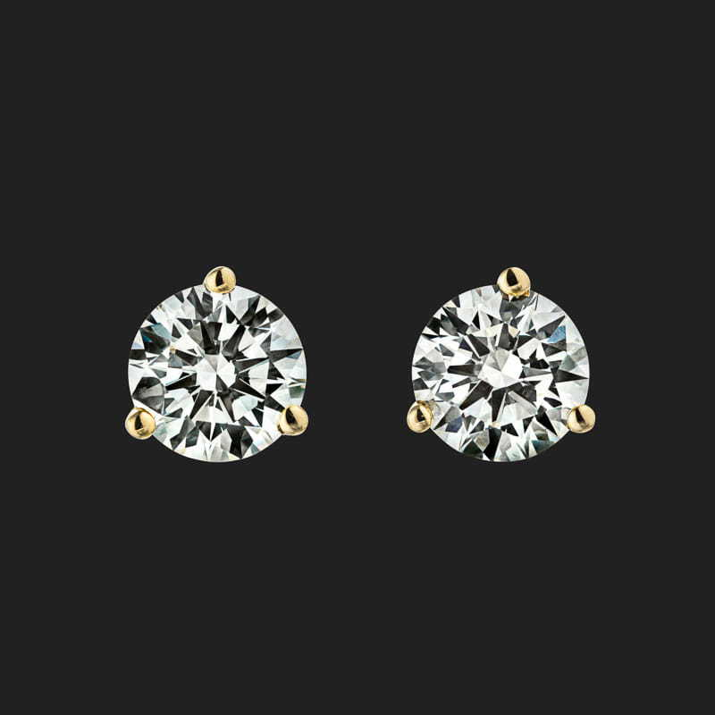 Martini Stud Earrings (RTS) - 1.25ctw Lab-Grown Diamonds