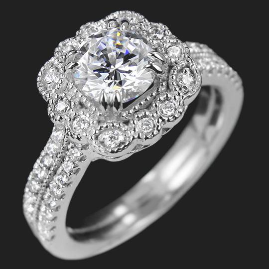 Pittock Two Tone Engagement Ring