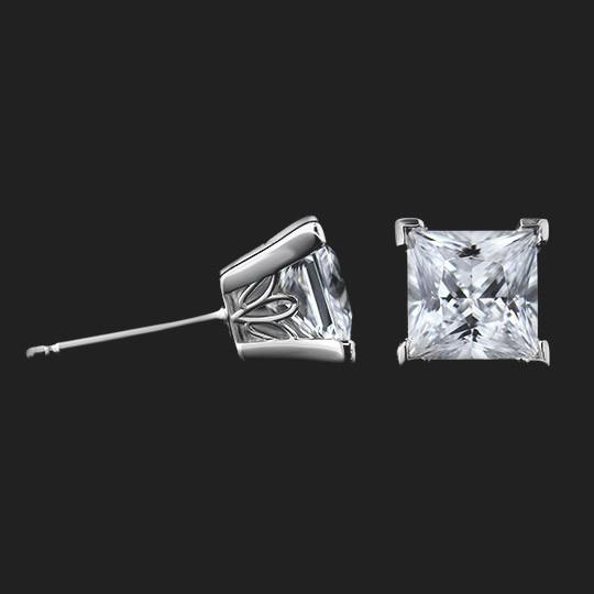 shown with two 1.0ct (2.0ctw) Diamond Hybrids® in 14KW