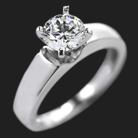 Shown with a 1.0ct Round cut in 14KW|1.0ct Round cut in 14KW
