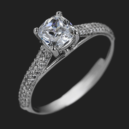 Trinity Pavè Diamond Ring