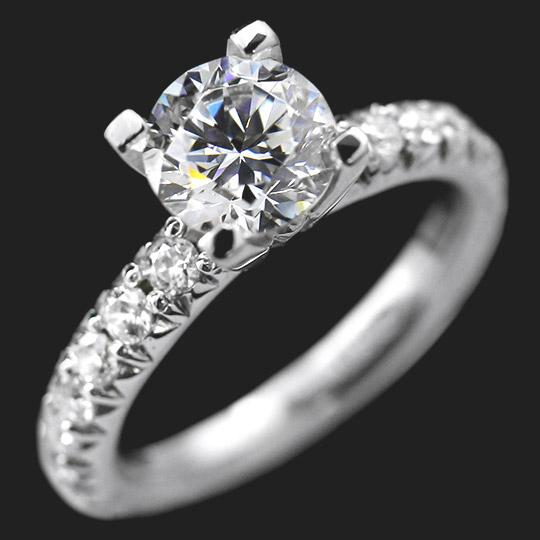 Tyra Engagement Ring (RTS) - 1.5ct Round Cut Diamond Hybrid