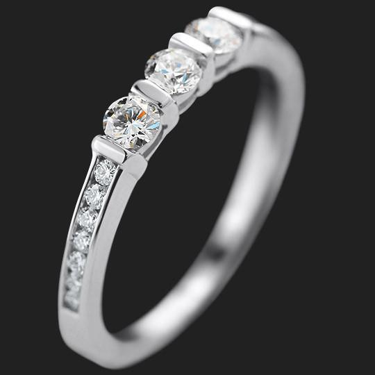 Cindy Accented Wedding Band shown in 14KW|14KW
